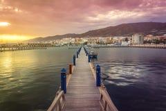 Puerto de la ciudad de Adra imagenes de archivo