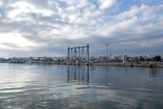 Puerto de la ciudad de Alexandroupolis, Grecia Fotos de archivo libres de regalías