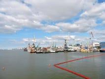 Puerto de la ciudad de Klaipeda, Lituania Fotografía de archivo libre de regalías