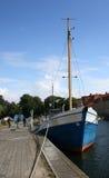 Puerto de la ciudad de Landskrona, Suecia Foto de archivo libre de regalías