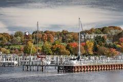 Puerto de la ciudad de Petoskey fotografía de archivo