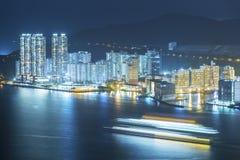 Puerto de la ciudad de Hong Kong Imagen de archivo