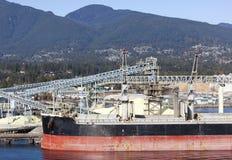 Puerto de la ciudad de Vancouver Foto de archivo libre de regalías