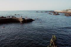 Puerto de la cruz海湾 免版税图库摄影