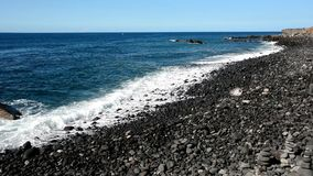 Puerto de la Cruz beach, Tenerife. stock footage