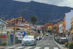 Puerto de la Cruz cityscape in Tenerife stock image