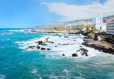 Puerto de la Cruz coast Royalty Free Stock Photo