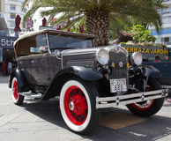PUERTO DE LA CRUZ - JULY 14: Ford Model A at town boulevard, on Royalty Free Stock Image