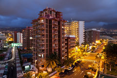 Puerto de la Cruz at Night Stock Photography