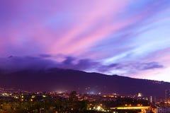 Puerto de la Cruz by Night Royalty Free Stock Images