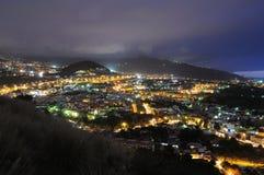 Puerto de la Cruz at night, Tenerife Royalty Free Stock Images