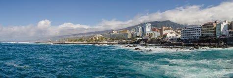 Puerto de La Cruz panorama royalty free stock images