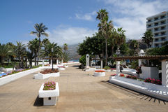 Puerto de la Cruz promenade.Tenerife, Spain Stock Photography