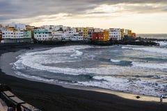 Puerto de la Cruz, Santa Cruz de Tenerife, Spagna. A picture of punta brava anche the back beach from la playa jardin Royalty Free Stock Photos