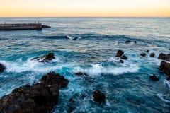 Puerto de la Cruz, Santa Cruz de Tenerife imagem de stock