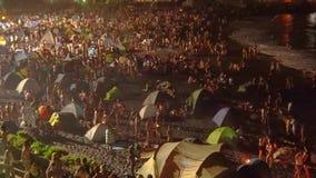 Night of San Juan in Puerto de la Cruz, Spain stock video footage