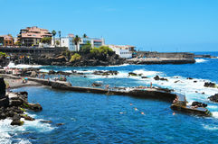 Puerto DE La Cruz, Tenerife, Canarische Eilanden, Spanje Royalty-vrije Stock Afbeelding