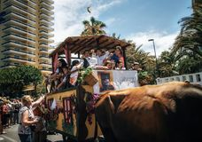 Local residents of Tenerife celebrate the Day of the Canary Islands stock photography