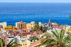 Puerto de la Cruz, Tenerife. The old city center from above. Stock Images