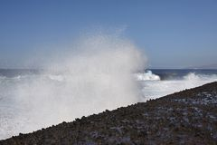 Puerto de la Cruz, Tenerife - pulverizador de água fotografia de stock