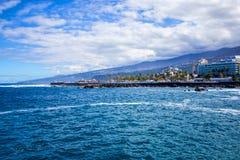 Puerto de la Cruz, Teneriffa-Insel, Spanien stockfotos