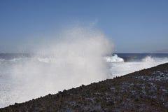 Puerto de la Cruz, Teneriffa - Wasserspray stockfotografie