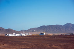 Puerto de la Cruz village on Fuerteventura island Stock Photography