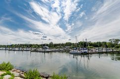 Puerto de la ensenada, Connecticut Imagen de archivo