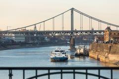 puerto de la industria de Krefeld Alemania fotos de archivo libres de regalías