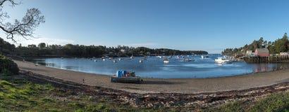 Puerto de la mañana en Maine Imagen de archivo libre de regalías