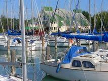 Puerto de la navegación Imagen de archivo libre de regalías