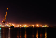 Puerto de la noche Imagenes de archivo