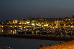Puerto de la noche Fotos de archivo libres de regalías