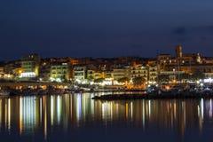 Puerto de la noche Foto de archivo
