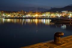Puerto de la noche Fotos de archivo