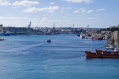 Puerto de La Valeta, Malta Fotografía de archivo
