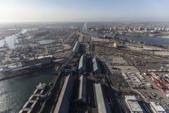 Puerto de la visión aérea de Long Beach Fotografía de archivo libre de regalías