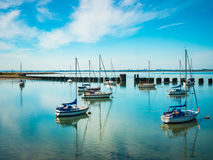 Puerto de Langstone imagenes de archivo