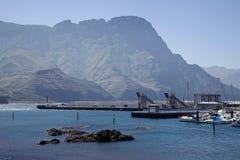 Puerto de Las Nieves,大加那利岛港  免版税库存照片