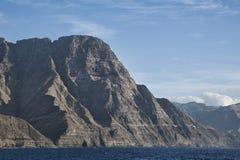 从Puerto de las Nieves,阿加埃特,大加那利岛,西班牙的看法 免版税库存图片