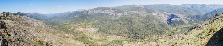 Puerto de las palomas synvinkel i toppiga bergskedjan de Cazorla, Jaen, Spai Arkivfoton