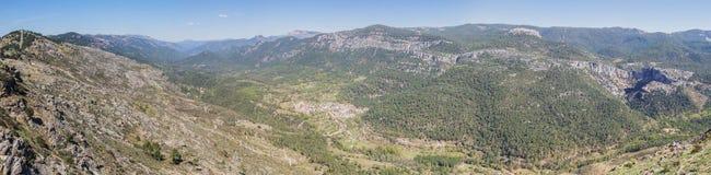 Puerto de las palomas synvinkel i toppiga bergskedjan de Cazorla, Jaen, Spai Fotografering för Bildbyråer