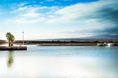Puerto de Le Barcarès, Francia Fotos de archivo libres de regalías