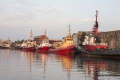 Puerto de Liepaja Imagen de archivo libre de regalías