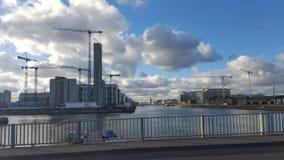Puerto de liffey de Dublín y del río fotografía de archivo