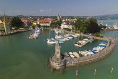 Puerto de Lindau, Alemania Foto de archivo libre de regalías