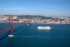 Puerto de Lisboa Foto de archivo libre de regalías