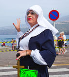 PUERTO DE LOS ANGELES CRUZ HISZPANIA, Luty, - 16: uczestnicy przygotowywają i Fotografia Stock