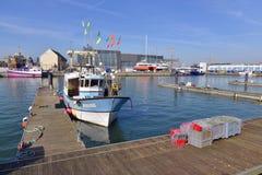 Puerto de los Sables d 'Olonne de Les en Francia imagenes de archivo