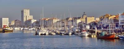 Puerto de los Sables d ?Olonne de Les en Francia foto de archivo libre de regalías